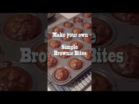 Brownie Bites - Make your Own with a Box Brownie Mix Perfect for Valentines Day