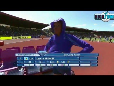 1.91 Levern Spenser Diamond League Birmingham ( women high jump )