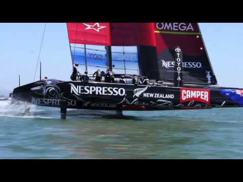 Emirates Team New Zealand - Today Emirates Team New Zealand took its AC72 out sailing on San Francisco Bay for the very first time. It was to be a light shake down but all systems were ...