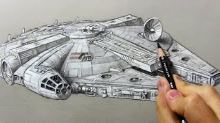 Drawing Time Lapse: The Millennium Falcon