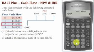 Download Video BA II Plus| Cash Flows –Net Present Value (NPV) and IRR Calculations MP3 3GP MP4