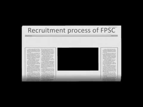 Recruitment process of FPSC