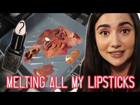 Melting All My Nude Lipsticks Together