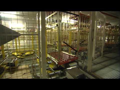 Fördersysteme für Rollcontainer / Rollwagentransport / Kombi Transport