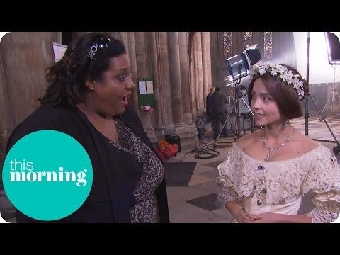 Jenna Coleman Backstage At Victoria And Albert's Wedding | This Morning
