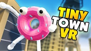 CAN A DONUT EAT A HOTDOG? - Tiny Town VR Gameplay Part 70
