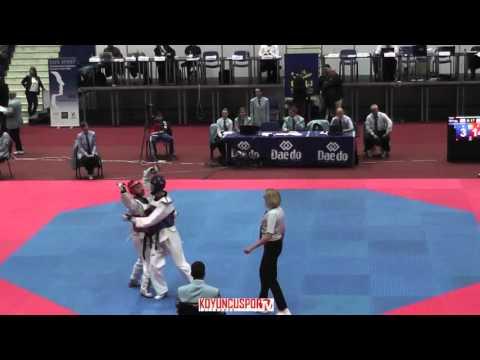 68kg Mario GEGAJ (MNE) vs (ISL) PALSSON,Sigurdue (-21 European TKD Championships 2015) (видео)