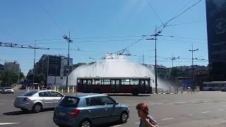 Prelepa fontana na trgu slavija u beogradu. Beautiful fontana at Slavija square in belgrade.