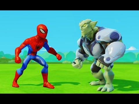 Человек-Паук против Зелёного гоблина и приключения машинок Тачки Дисней Spider-Man & Green Goblin (видео)