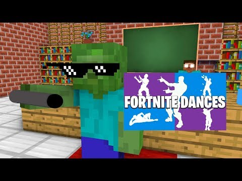 Monster School : FORTNITE DANCE CHALLENGE(NINJA PIGMAN ORANGE JUSTICE) - Minecraft Animation