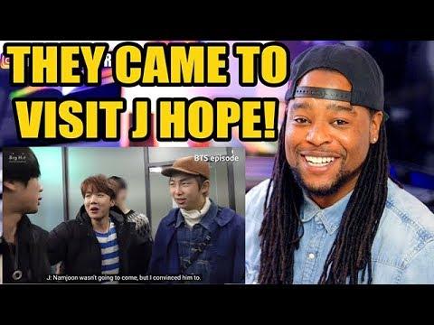 [BTS EPISODE] J HOPE 1st mixtape MV Shooting #2  THEY CAME TO VISIT HIM!!!
