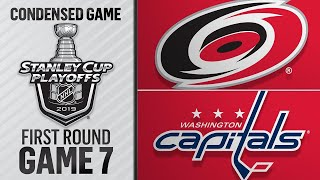 04/24/19 First Round, Gm7: Hurricanes @ Capitals by NHL