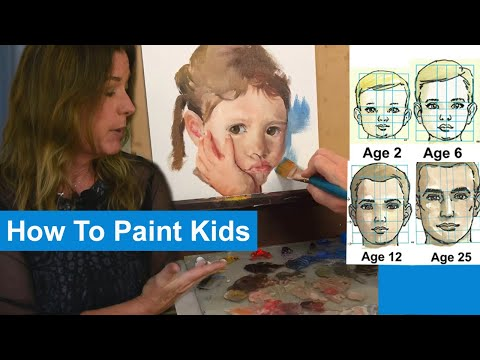 Portrait Painting   Features Of Children -VS- Adults And How They Differ