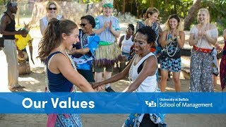 Watch the UB School of Management: Our Values video on YouTube