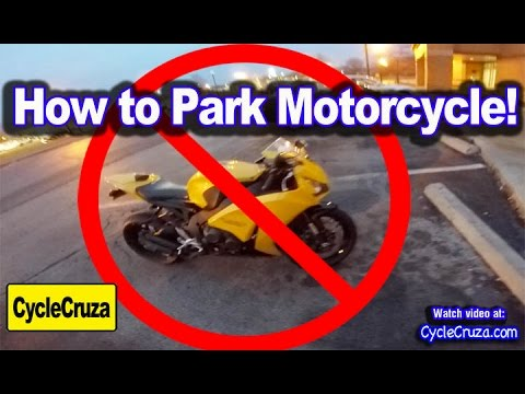 How to Park a Motorcycle!