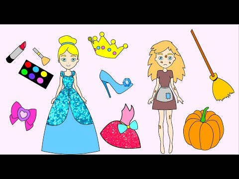 Cinderella Handmade Queit book- Paper Doll dresses up and does make up-Craft for girls