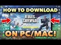 How to Download Rules of Survival on Your Computer! (PC/Mac Tutorial)