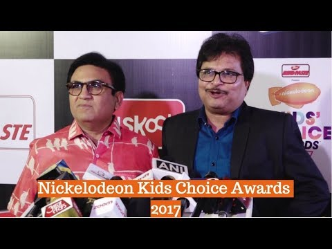 Jethalal   Dilip Joshi & Asit Kumarr Modi At Orange Carpet Of Nickelodeon Kids Choice Awards 2017