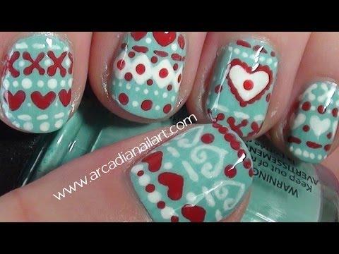nail art - originale pattern invernale