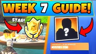 Fortnite WEEK 7 CHALLENGES GUIDE! - Secret Star, HUNTING PARTY WEEK! (Battle Royale Season 6)