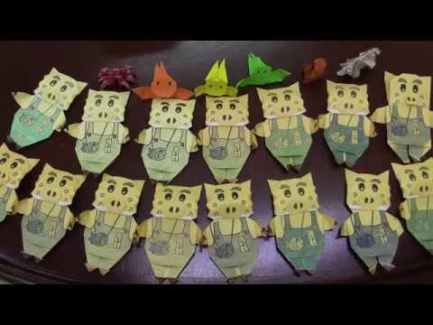 猪名川町のゆるキャラ「いなぼう」折り紙