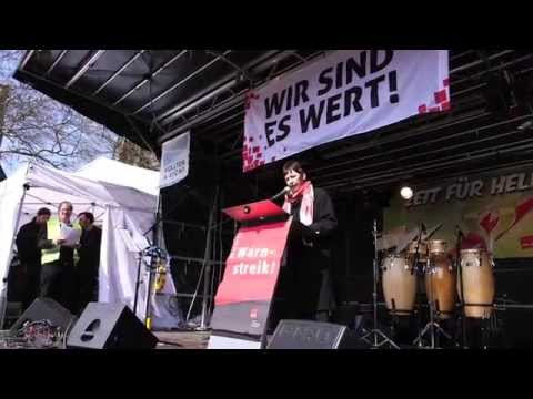 Warnstreik am 27.03.2014 in Duisburg (видео)