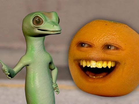 Annoying Orange - Annoying Orange vs. Gecko (Geico Spoof)