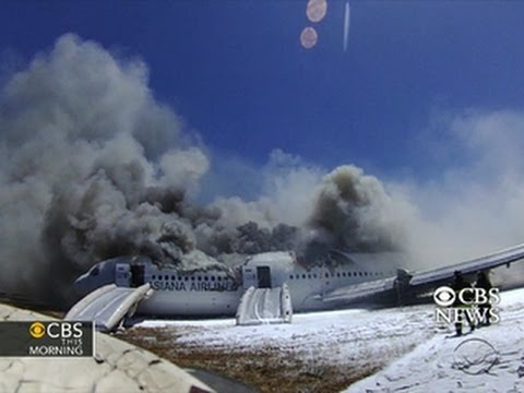 cbs news - Video obtained by CBS News reveals a frantic scene as emergency workers respond after Asiana Airlines flight 214 crashed at the San Francisco airport. CBS Ne...