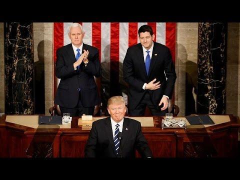 Σε χαμηλότερους τόνους η πρώτη ομιλία Τραμπ στο Κογκρέσο