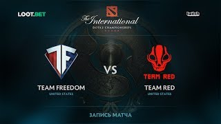 Team Freedom vs Team Red, The International 2017 NA Qualifier