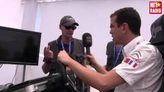 Momo teste le simulateur de conduite Tkayes de Renault Maroc au MGP 2015 avec HIT RADIO