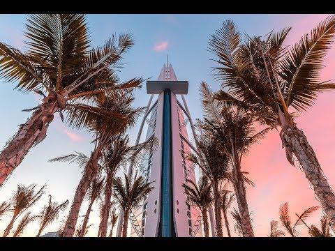 Taking photos of Burj Al Arab at sunrise! (Known as the 7 star hotel)