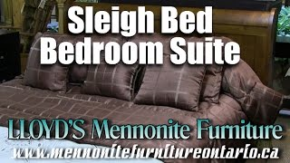 Wormy Maple Lakeview Sleigh Bedroom Suite