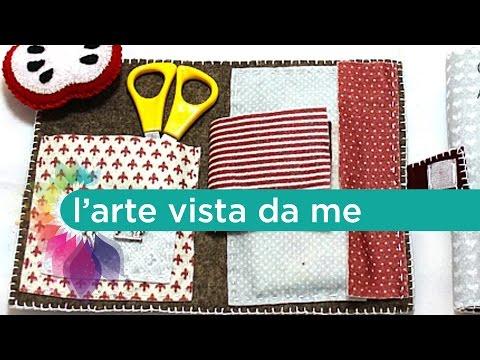 Tutorial:Kit cucito in feltro con puntaspilli/ DIY Sewing kit with pin cuscion - Idea regalo maestre