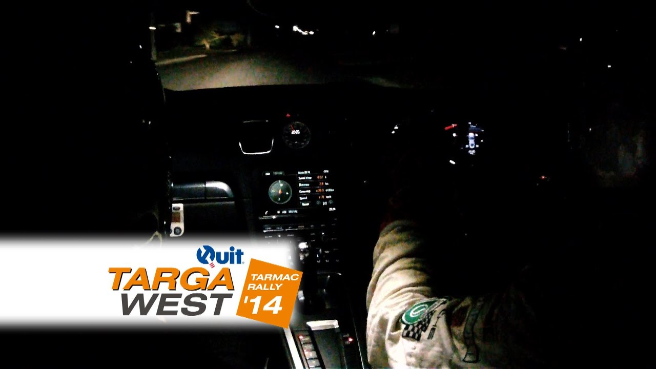On Board Special with Jim Richards through Malaga at night – Quit Targa West 2014