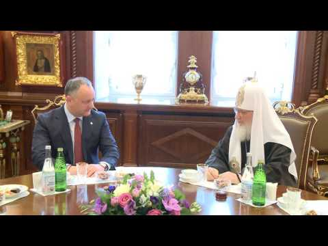 La Moscova Igor Dodon s-a întîlnit cu Patriarhul Moscovei şi al Întregii Rusii, Kiril
