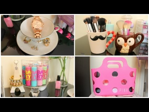 storage - DIY Room Décor, Storage & Organization Ideas for Makeup & More. Watch My New Storage & Organization Video ~ http://youtu.be/YYZsqr9CRYg Watch My Makeup Stora...