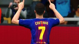 Download Video Barcelona vs Real Madrid (Coutinho Scored 2 Goals) UCL 2018 Gameplay MP3 3GP MP4