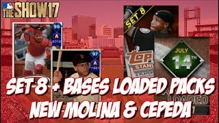Opening up the new Set 8 and Bases Loaded packs, featuring the new Yadier Molina and Orlando Cepeda cards and Roster Update!!  Leave a Like and Subscribe for MLB The Show 17!➠Twitter - https://twitter.com/KPritz21Check out my MLB The Show 17 Playlists!➠ Ranked Seasons - https://www.youtube.com/playlist?list=PL5AHVL-omk8OB2IzhUoDwOmGViHd4BYvC➠ Epics, Missions, Packs & Programs - https://www.youtube.com/playlist?list=PL5AHVL-omk8PzjCnMDW8Efqr-wuc_sydQ➠ Road To The Show - https://www.youtube.com/playlist?list=PL5AHVL-omk8PmZI0c52cTu0iLCTt7OZ5hThanks for Watching!!