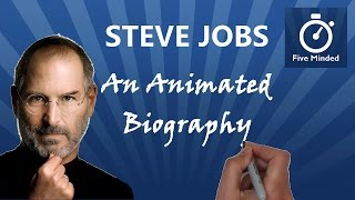 """This is my  biography of Steve JobsSteve Jobs was the co-founder and CEO of Apple Inc. and former CEO of Pixar Animation Studios. He was the largest individual shareholder in Walt Disney. Jobs' name is associated with innovative products like the iPod, iPhone, iTunes and iPad. Jobs' advice for success is: """"You've got to find what you love."""" He died in October 2011, aged 56.Get the BOOK Steve Jobs: http://amzn.to/2b3ykXY** CONNECT WITH ME **Whiteboard Software I use to make my Videos: http://www.sparkol.com?aid=983244Facebook: https://www.facebook.com/5ivemindedTwitter: https://twitter.com/fivemindedhttp://patreon.com/fivemindedThanks for watching, Please LIKE and SUBSCRIBE if you like my Biographies.THANKS!!ALL AUDIO FOR THIS VIDEO IS COURTESY OF:Sean Banvillehttp://www.BreakingNewsEnglish.com-~-~~-~~~-~~-~-Please watch: """"The History of Earth Day - Animated Narration for Kids"""" https://www.youtube.com/watch?v=b6LUaGy1ChA-~-~~-~~~-~~-~-"""