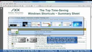Shortcuts #1-9 Top Time-Saving Windows Shortcuts