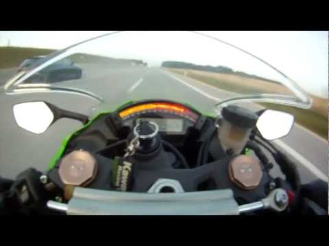 kawasaki ninja vs audi rs6 - sfida a 300 km/h
