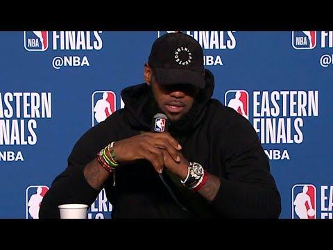 LeBron James Postgame Interview - Game 4   Celtics vs Cavaliers   2018 NBA East Finals (видео)