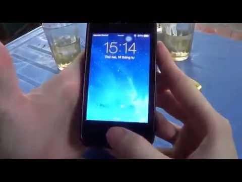 Mở khóa iphone bằng phong cách rất dị