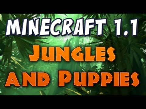 minecraft 1.2 update - Jungle biomes and wolf pups are the latest additions to Minecraft, as available in a pre-release codenamed