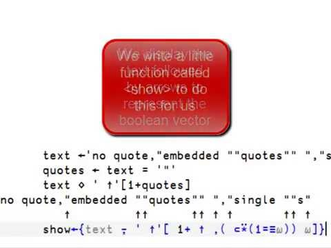 CSVstrings with embedded quotes