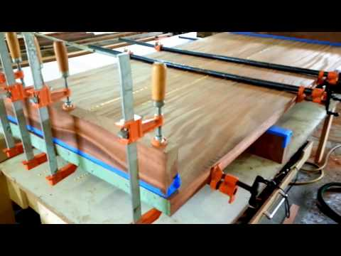 Gluing up large wood slabs - how to