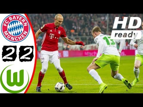 Bayern Munich vs Wolfsburg 2 - 2 All Goals, Skill, Save, & Highlights | 09 22 2017 HD