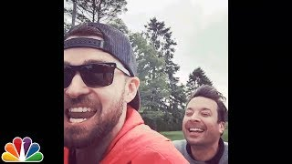 Justin Timberlake and Jimmy Fallon Go Bro Biking Video