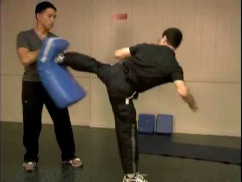 Martial Arts Kicking Taekwondo Kicking Back Kick Martial Arts Olympic Taekwondo Sparring.wmv